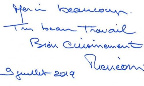 Remerciements Monsieur O